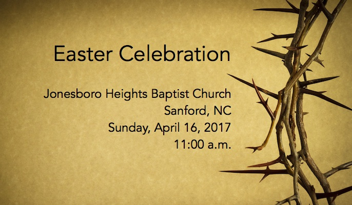 Service Overview Easter Sunday 2017 – Worship @ JHBC
